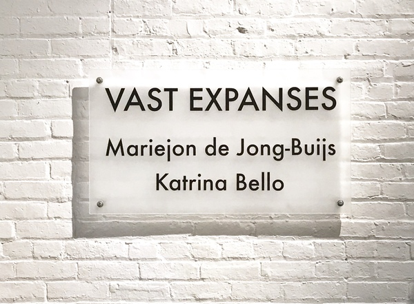 Vast Expanses, 2-person exhibition at Brick + Mortar Gallery